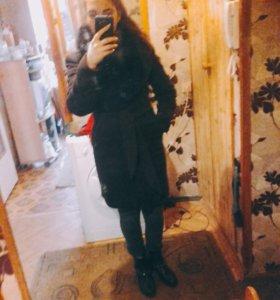 Драповое пальто б/у. Зима