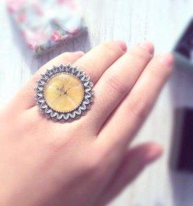 """Кольцо из ювелирной смолы """"Цветок солнца""""🌼☀️"""