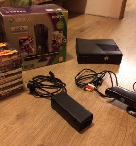XBOX 360 + Kinect + 18 игр