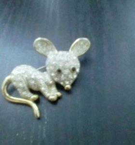 Брошка мышка
