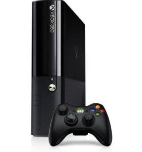 XBOX 360+2 геймпада и 2 игры