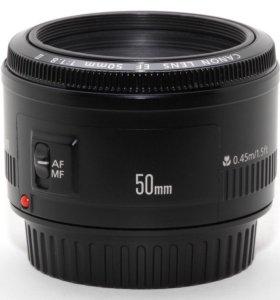 Объектив Canon 50 мм