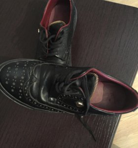 Туфли кожаные люксовая копия Philipp Plein