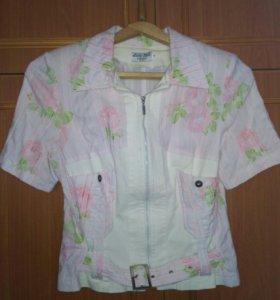 Блуза из плотной стрейчивой ткани