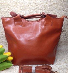 Кожаная женская сумка Chloe