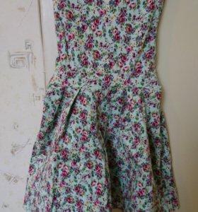 Ментоловое платье evona