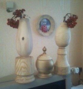 Деревоизделия малые формы-посуда-шкатулки-фоторамк