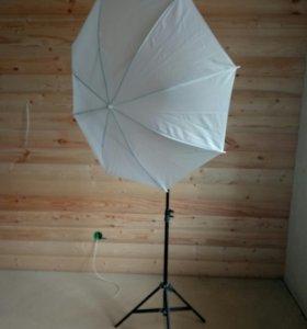 Штатив и зонт для фотографии