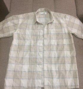 Рубашка в клетку 44-46 р-р