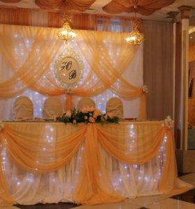 Оформление свадьбы, украшение зала на свадьбу