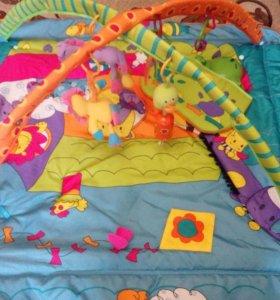 !Коврик Tiny Love с игровой подушкой музык.