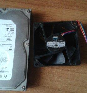 Жесткий диск 250GB +вентик