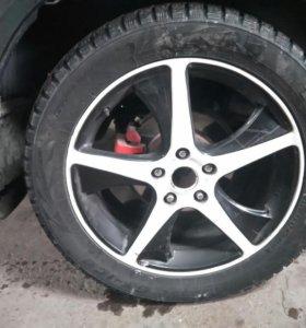 Литые диски + шины зима r18