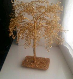 Дерево из бисера