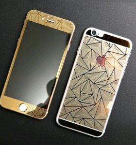 Стекла цветные двусторонние Iphone 6 plus