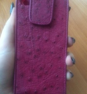Чехол из кожи страуса на айфон 5s