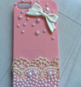 Розовый чехол на Айфон 5s