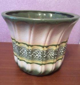 Горшок для цветов керамический