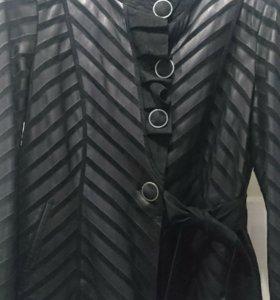 Куртка замша-кожа