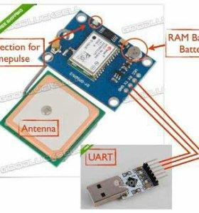 Ublox neo 7m GPS модуль arduino raspberry