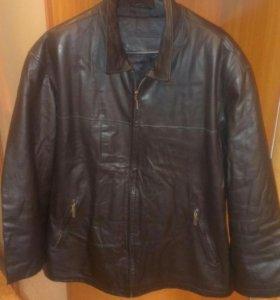 Классическая кожаная куртка на большого дядю