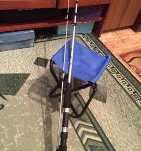 Удочка + стульчик для рыбалки