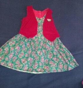 Платье нарядное на девочку р.98-104