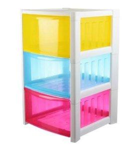 Комод ящик детский радуга для игрушек
