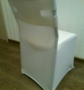 чехол для стульев, белый.