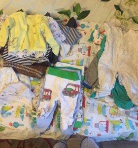 Пакет от 1-7 месяцев мальчику