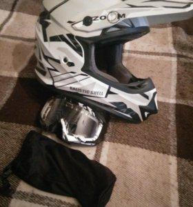 Шлем astone mx600 + очки Stells