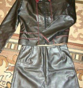 Пиджак+юбка 44р-р