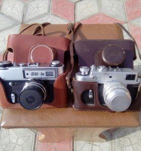 Два фотоаппарата Фэд-5 и Мир