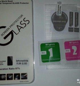 Защитное стекло на iPhone 5,5s(e)