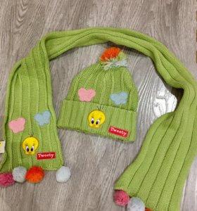 Шапка + шарф (детский комплект)