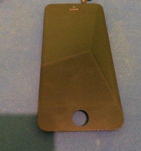Продам экран на iPhone 5s чёрный