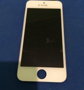 Продам экран на iPhone 5s белый