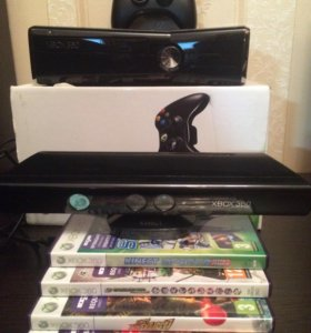 Xbox 360 Slim 250gb + Kinect + игры