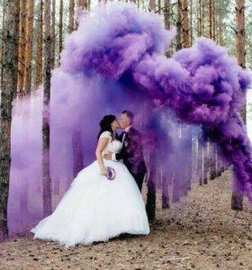 Цветной дым💨🎨 для фотосессий📸 Smoke Fountain