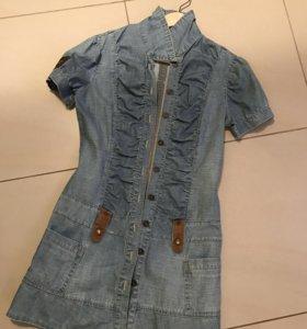 Платье джинсовое женское