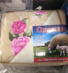 Одеяло шерсть овечья, микрофибра 200х220