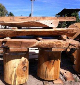 Колоды слебы столы