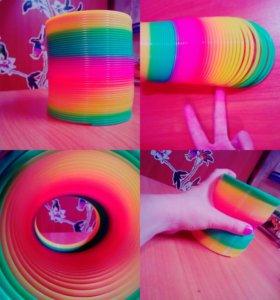Новая игрушка )) Радужная змейка