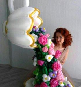 Гелиевые шары, Композиция из воздушных шариков
