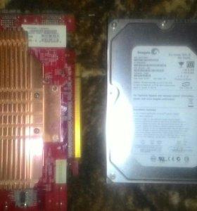 Видеокарта и жесткий диск 200гб