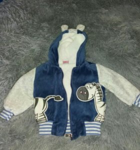 Джинсы и курточка с мехом