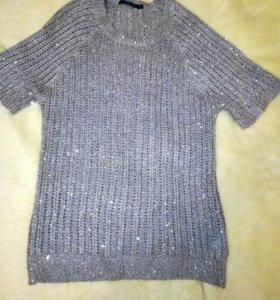 Блуза вязаная с паетками