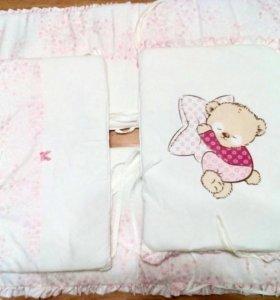 Детская кроватка в хорошем состоянии + бортики