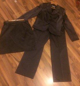 👚Костюм тройка женский пиджак, юбка, брюки