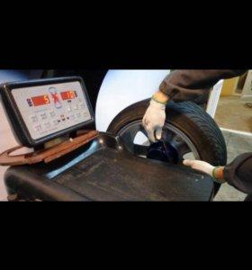 Шиномонтаж автомобильных колёс.